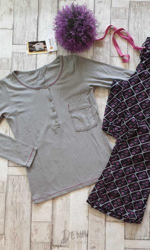 Дамска зимна пижама с копчета Sevim