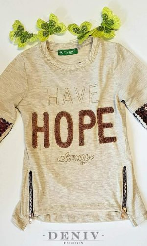 "Детска блуза за момиче ""Have hope"""