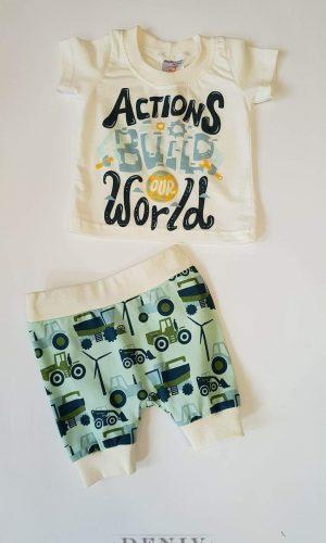 """Бебешки комплект за момче """"Actions World"""""""
