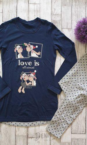 Дамска зимна пижама Афект Love is...