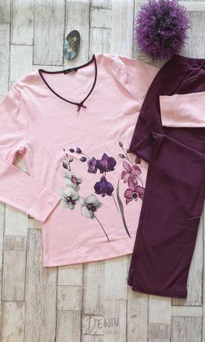 Дамска зимна пижама Иватекс цветя