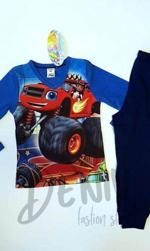 Детска зимна пижама Cars за момче