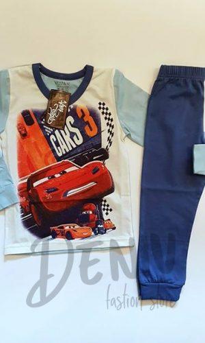 Детска зимна пижама за момче CARS 2