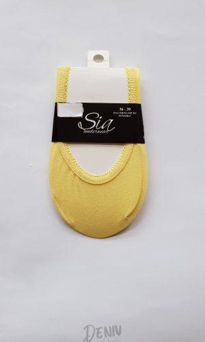 Дамски памучни терлички Sia в цвят жълт