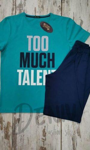 Мъжка лятна пижама Иватекс с къси панталони