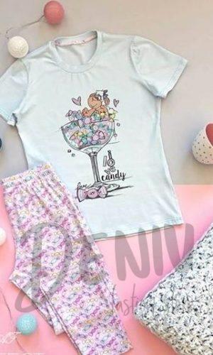 Дамска луксозна пижама Бонбони Афект