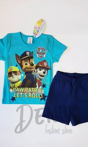 Детска лятна пижама Paw Patrol синя