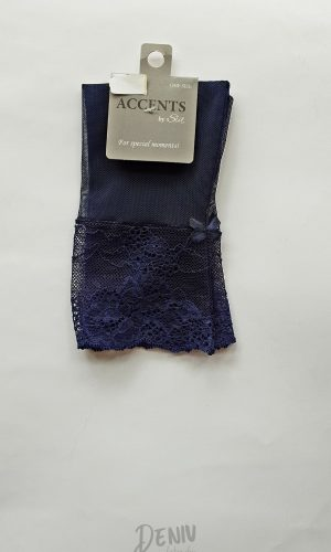 Дамски елегантни тюлени чорапи Sia тъмно син