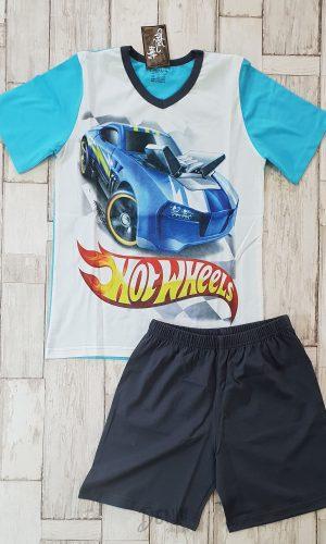 Детска лятна пижама с къс ръкав Hot Wheels