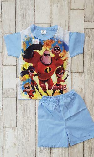 Детска лятна пижама с къс ръкав Маски