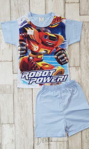 Детска лятна пижама с къс ръкав Robot Power