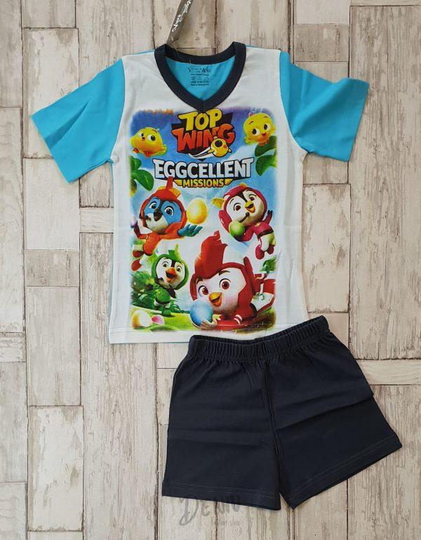 Детска лятна пижама с къс ръкав Top Wing 2