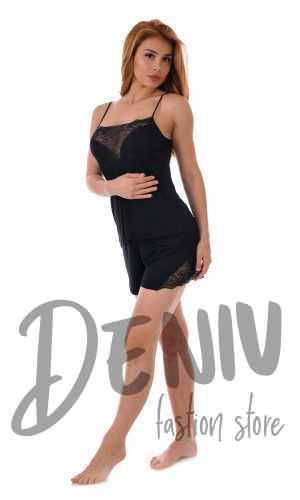 Секси дамска пижама Desislava цвят черен