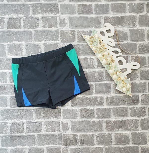 Мъжки бански боксер цвят графит