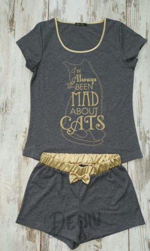 Дамска лятна пижама Иватекс Cats