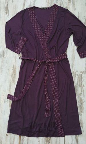 Дамски халат модал Иватекс тъмно лилав