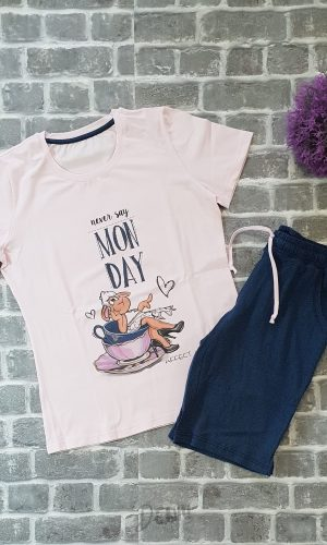 Дамска лятна пижама Афект Monday