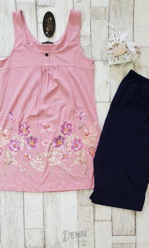 Дамска лятна пижама макси Иватекс - потник/туника