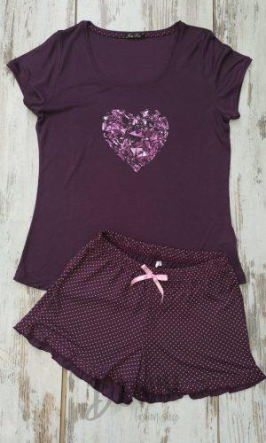Лятна пижама модал Иватекс диамантено сърце