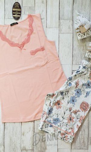 Дамска лятна пижама Иватекс цвят праскова