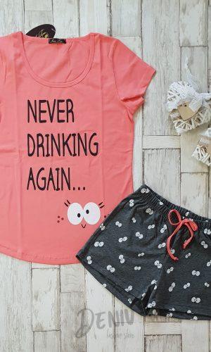 Дамска пижама Иватекс Never Drinking Again