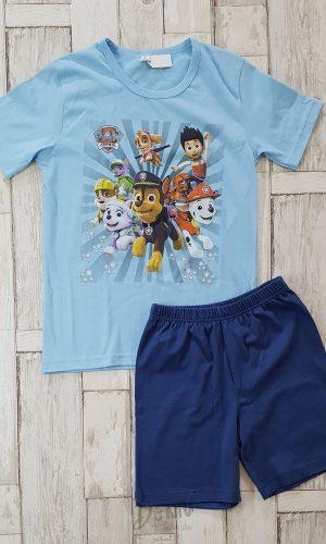 Детска лятна пижама с къс ръкав Paw Patrol синя