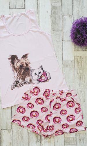 Дамска лятна пижама Афект розови понички
