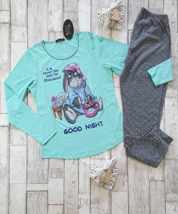 Дамска зимна пижама Иватекс Йори в резеда
