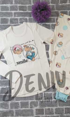 Дамска пижама Афект Интерлог Smile Vanilla