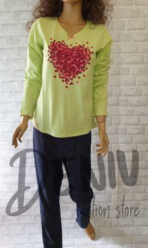 Дамска тънка пижама Иватекс Огнени сърчица