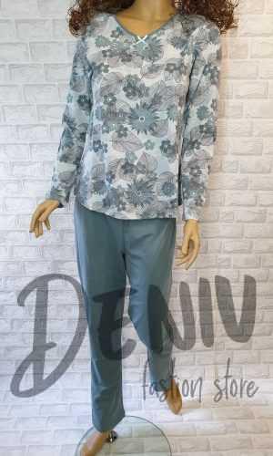 Дамска тънка пижама Иватекс Зелено Сияние