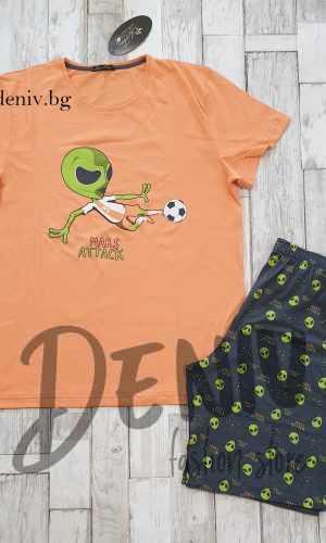 Мъжка пижама лятна Иватекс Mаrs оранжев