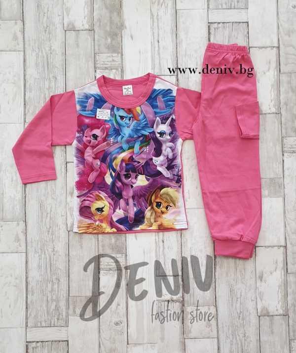 Детска тънка зимна пижама Понита